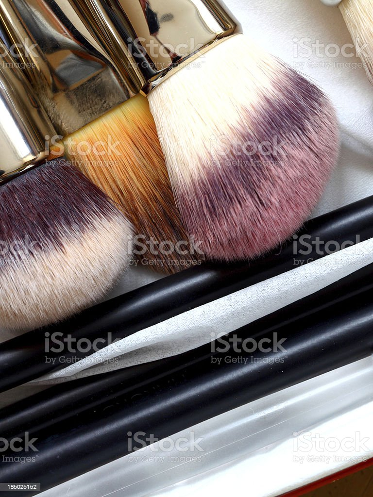 make-up brushes - beauty treatment royalty-free stock photo