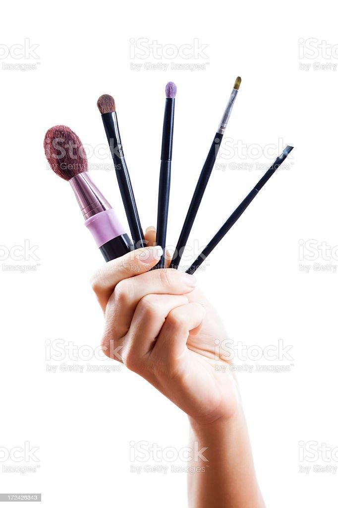 Make-up brushes royalty-free stock photo