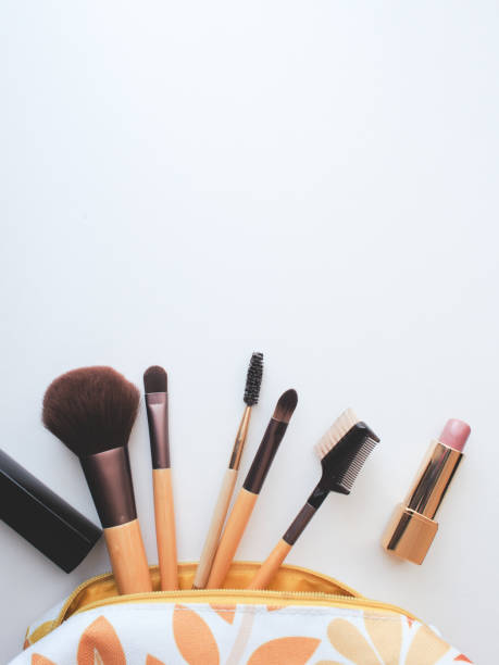 Makeup brushes - foto stock