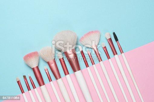 istock Makeup brushes set 647811984