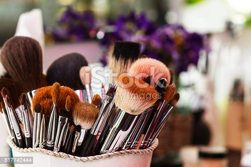 Brush set makeup, beauty salon