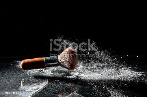 istock Makeup brusk and powder 673602890