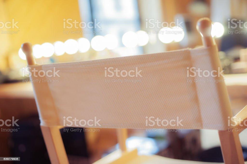 Makeup chair stock photo