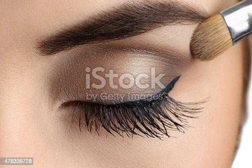 istock Makeup close-up. Eyebrow makeup, brush. 478336728