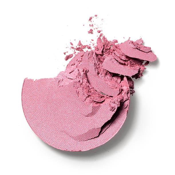 Make-up crushed eyeshadow Crushed eyeshadow isolated on white blusher make up stock pictures, royalty-free photos & images