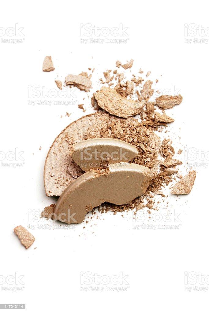 Make-up crushed eyeshadow royalty-free stock photo