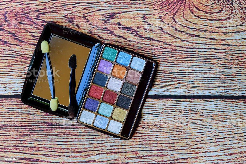 Make-up desk. Many cosmetics. royalty-free stock photo