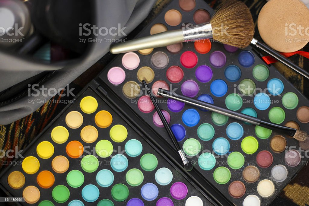 Make-up equipment royalty-free stock photo