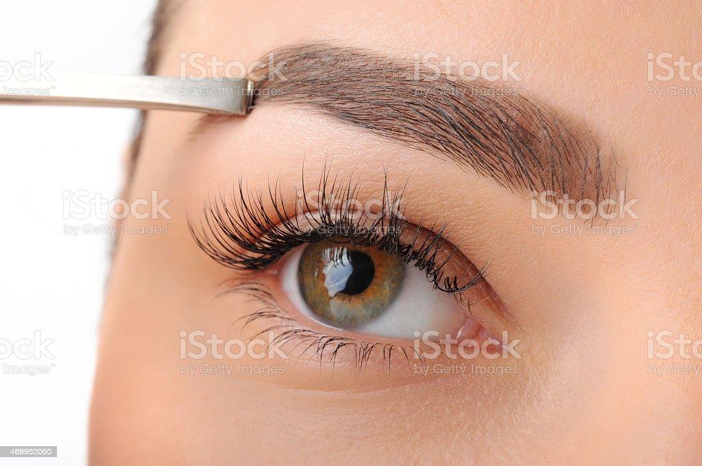 Make-up. Eyes. Eyelashes. stock photo