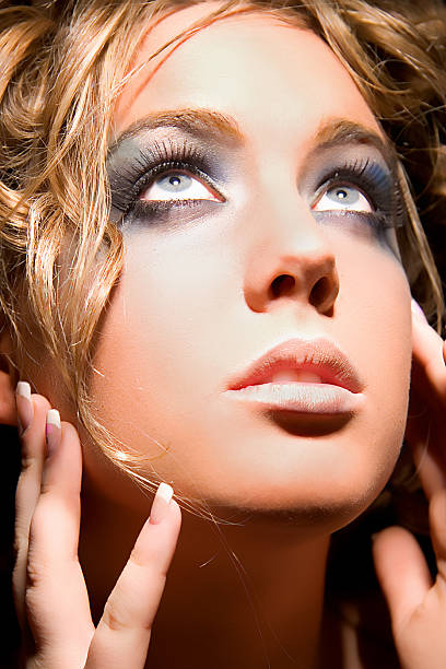 augen-make-up - miss usa haar stock-fotos und bilder