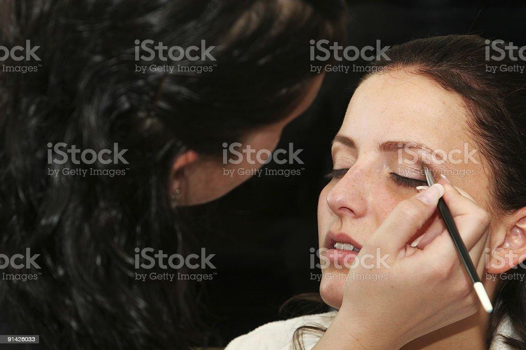 makeup fashion royalty-free stock photo