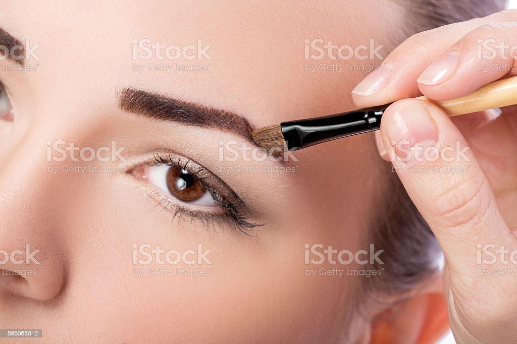 makeup for eyebrows stock photo