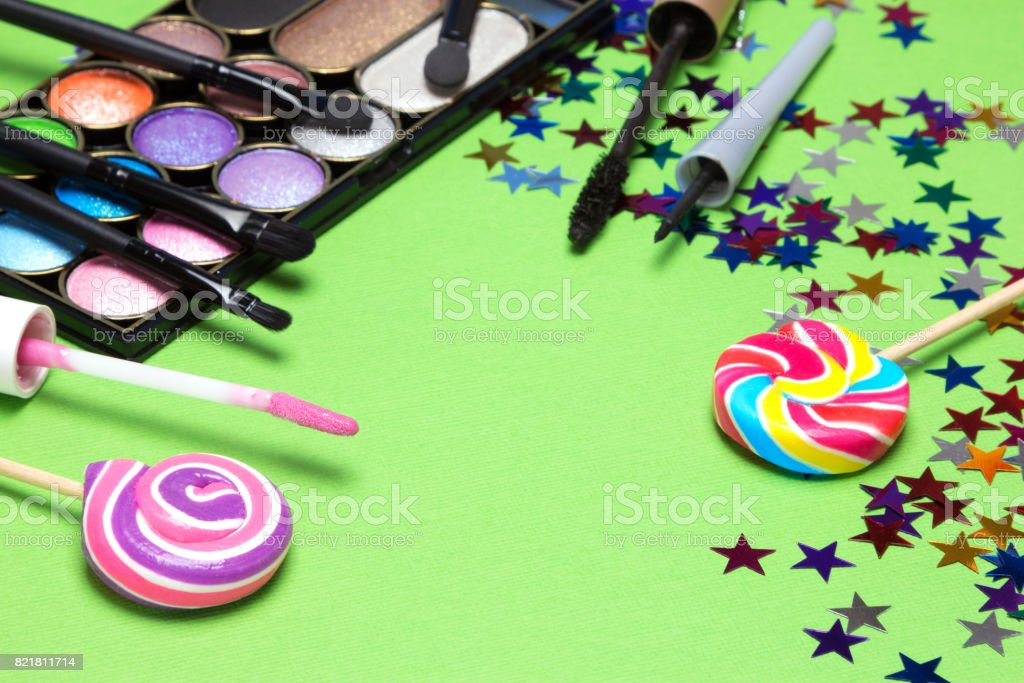 Makeup for holiday party stock photo