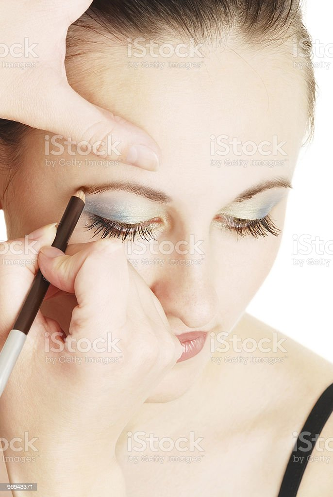 make-up for the young girl royalty-free stock photo