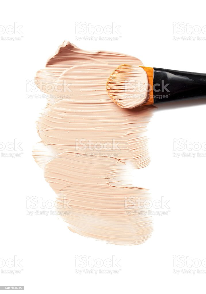 makeup foundation stock photo