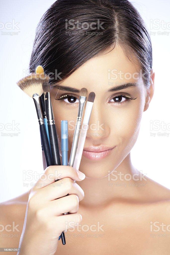 Make-up girl royalty-free stock photo