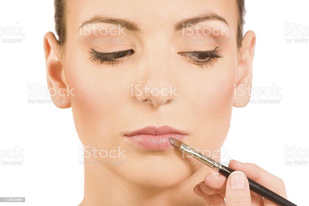 make-up instruction stock photo