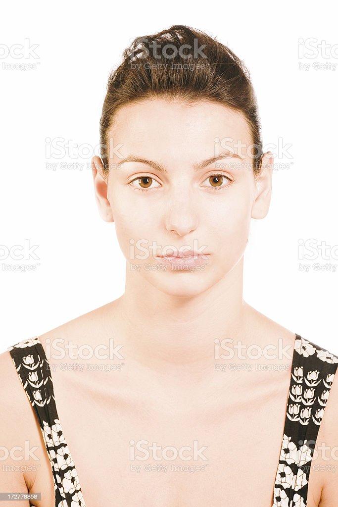 make-up instrusction - after concealer royalty-free stock photo
