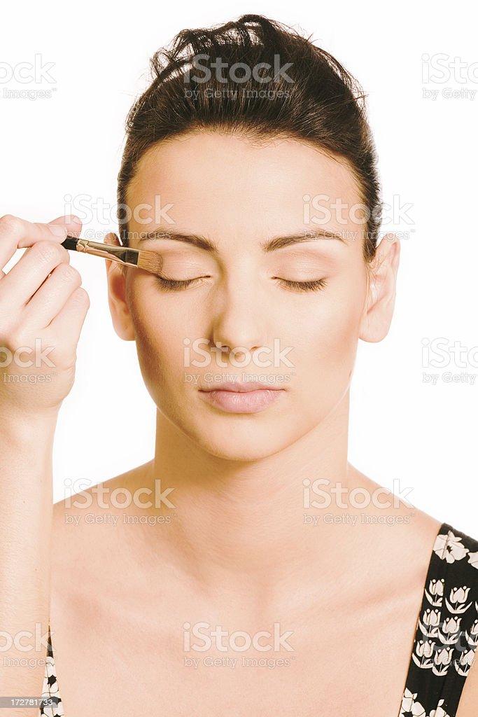make-up instrusction - eyeshadow royalty-free stock photo