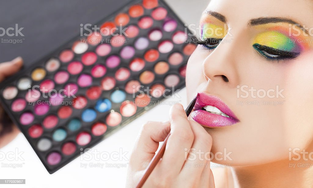 make-up lipstick royalty-free stock photo