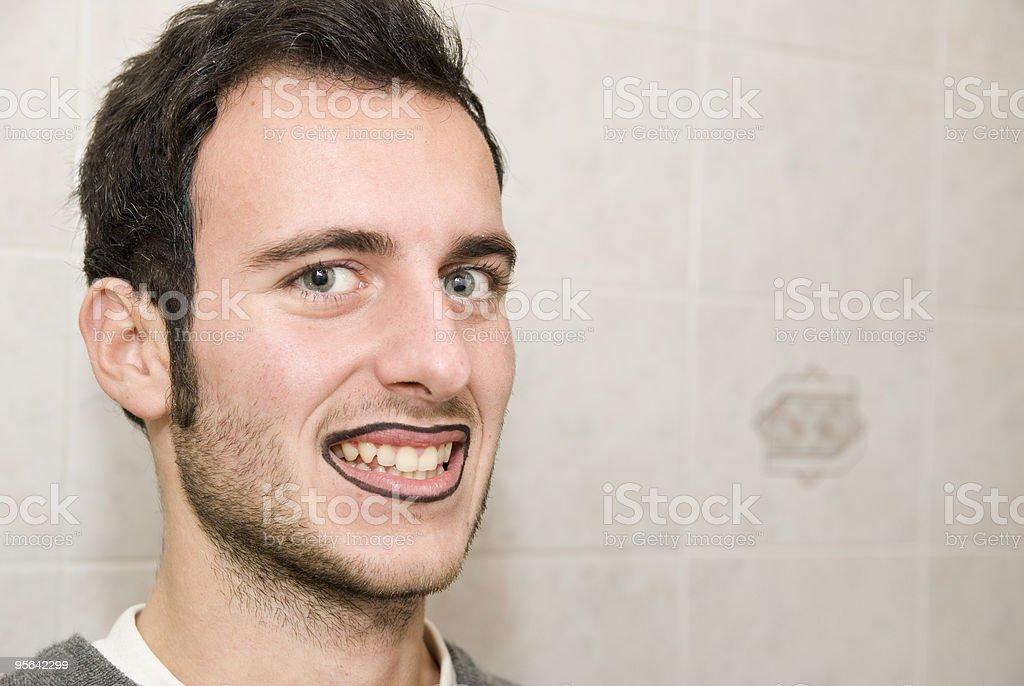 makeup man who smiles royalty-free stock photo