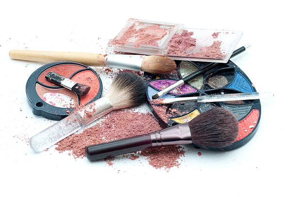 Makeup mess stock photo