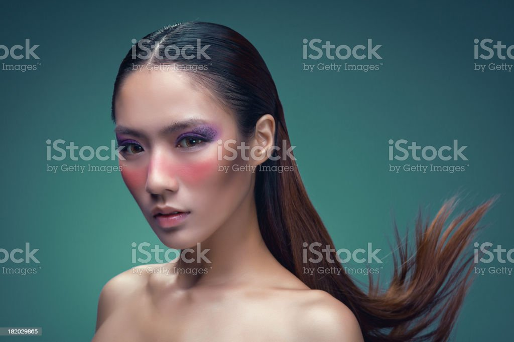 Make-up of Asian woman stock photo