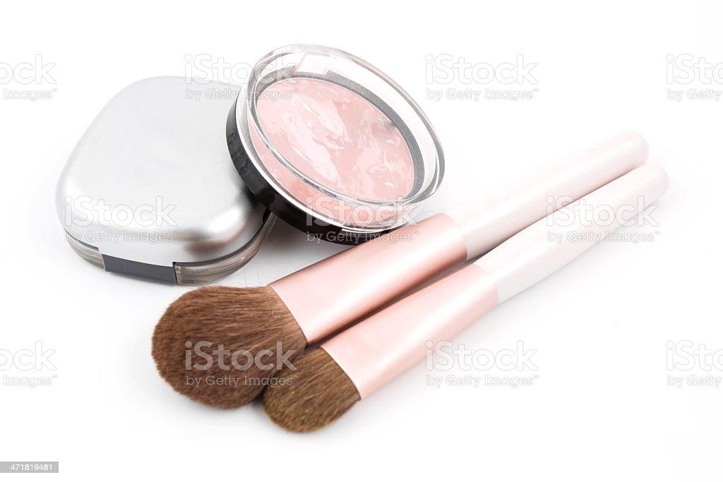 Makeup of the girl stock photo