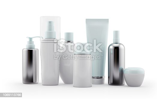 Cosmetics packaging template
