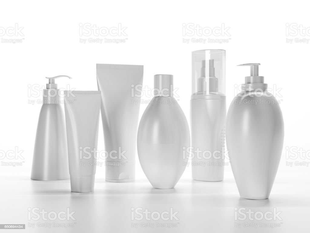 Make-up packaging produc stock photo