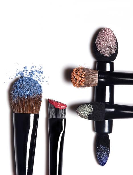 make-up - goldenes augen make up stock-fotos und bilder