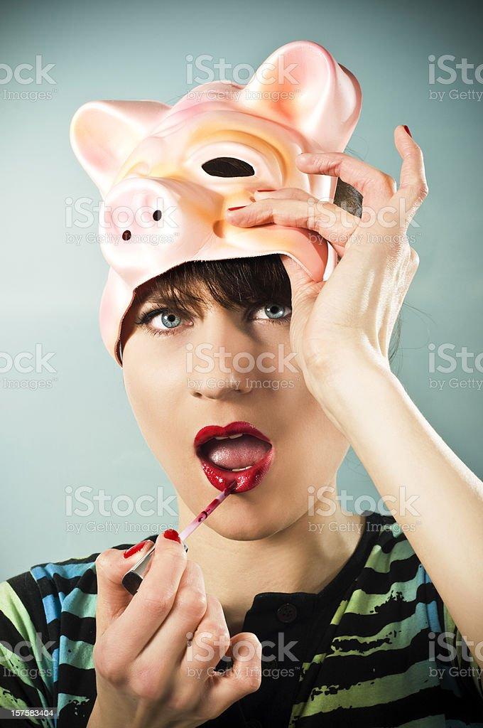 make up pig royalty free stock photo