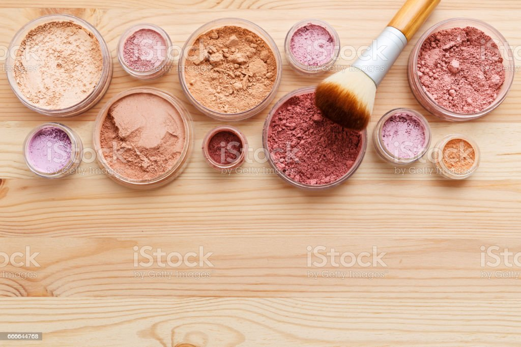 Makeup powder background stock photo