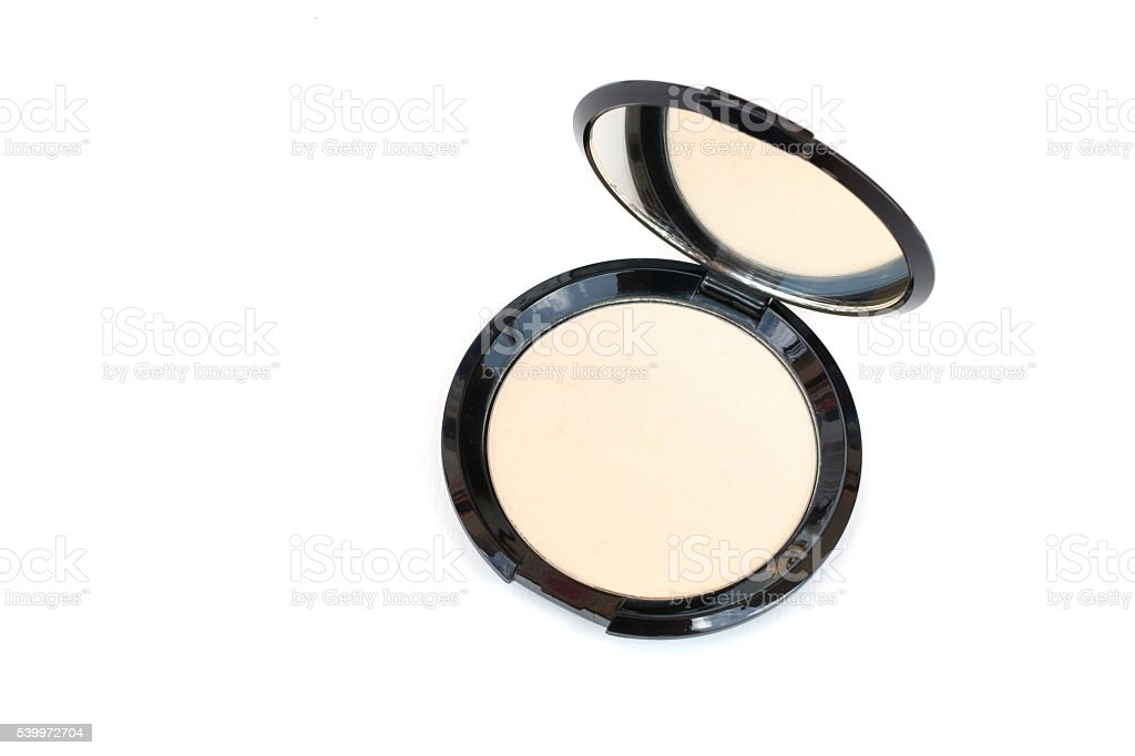 makeup pressed powder stock photo