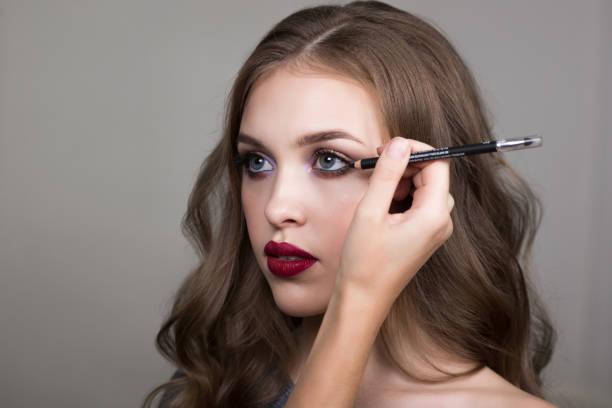 Make-up process stock photo