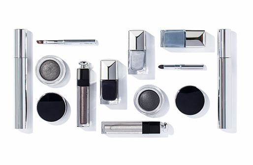 Make-up products isolated on background ( with clipping path)