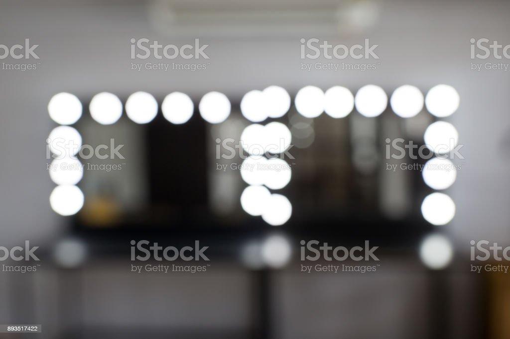 Makeup room blur and bokeh stock photo