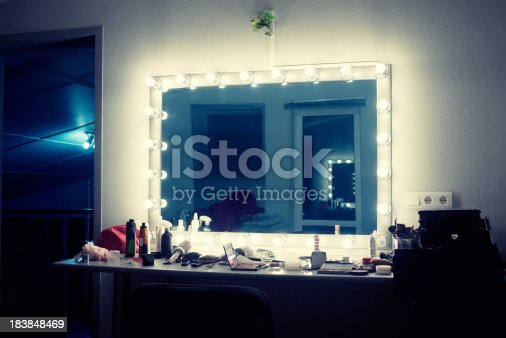 mirror in make-up room