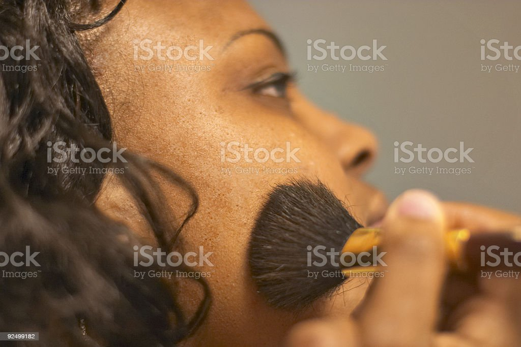 makeup series: 5 royalty-free stock photo
