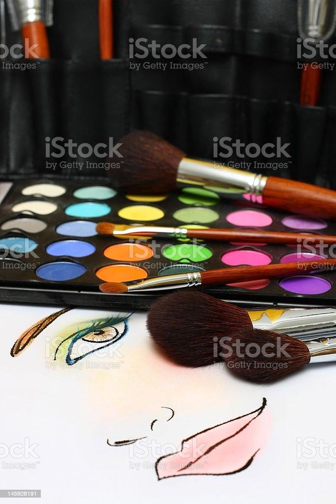 Makeup Sketching royalty-free stock photo