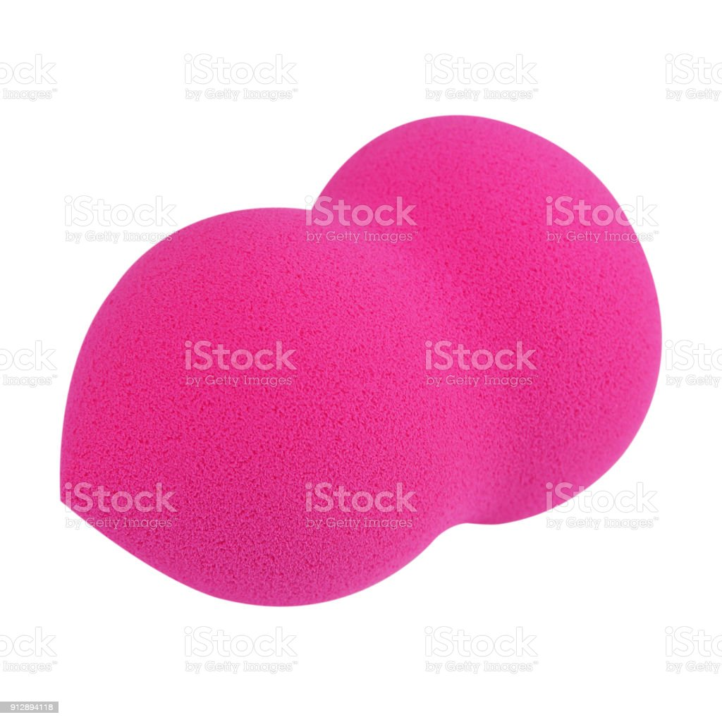 makeup sponge isolated on white background. stock photo