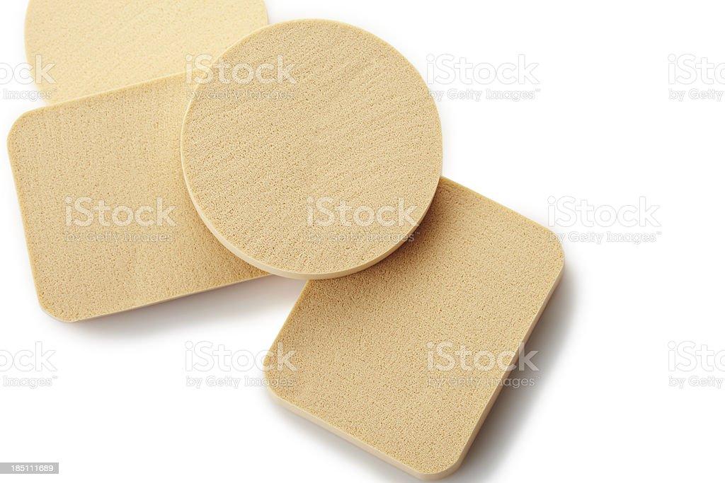 Make-up sponges stock photo