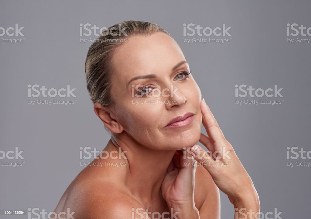 Makeup that's perfectly age appropriate - Stock image .