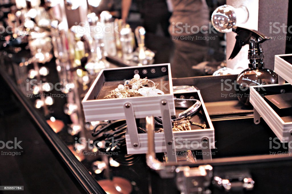 make-up toolbox stock photo