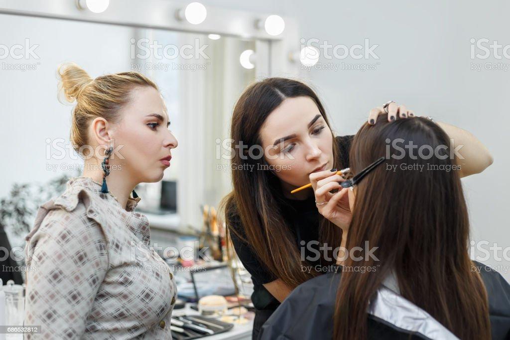 makeup tutorial course zbiór zdjęć royalty-free