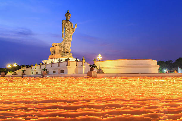 makha bucha day - makha bucha stock photos and pictures