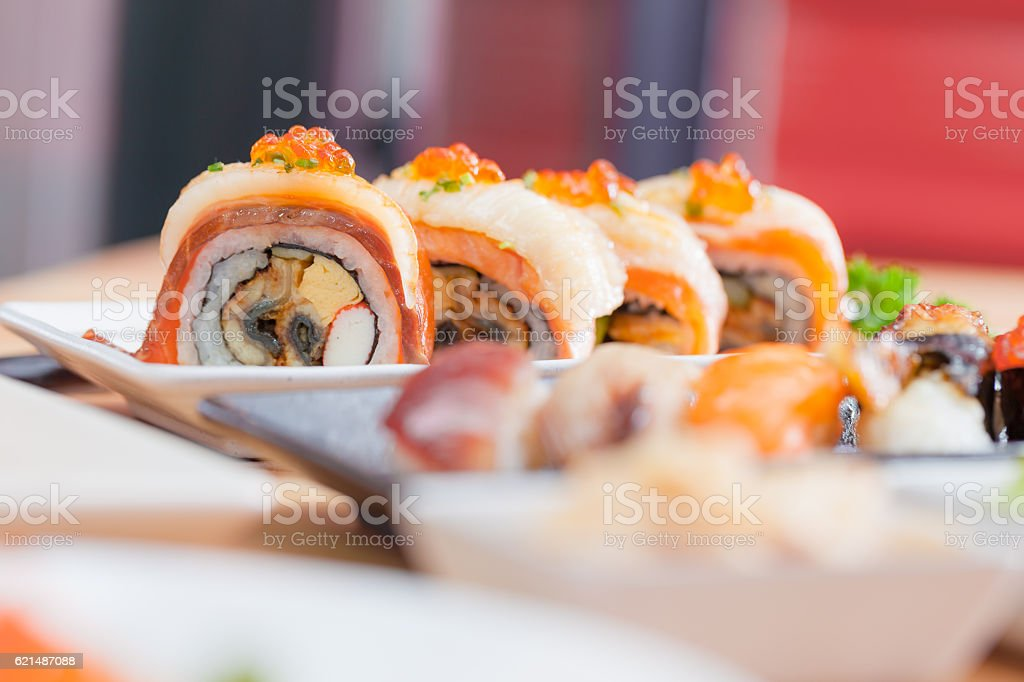 Maki Japanese food Lizenzfreies stock-foto