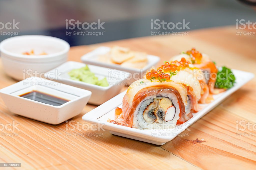 Maki Japanese food photo libre de droits