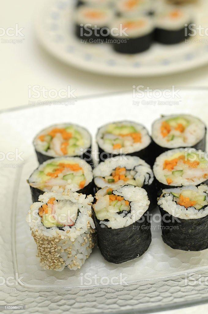Maki Rolls royalty-free stock photo