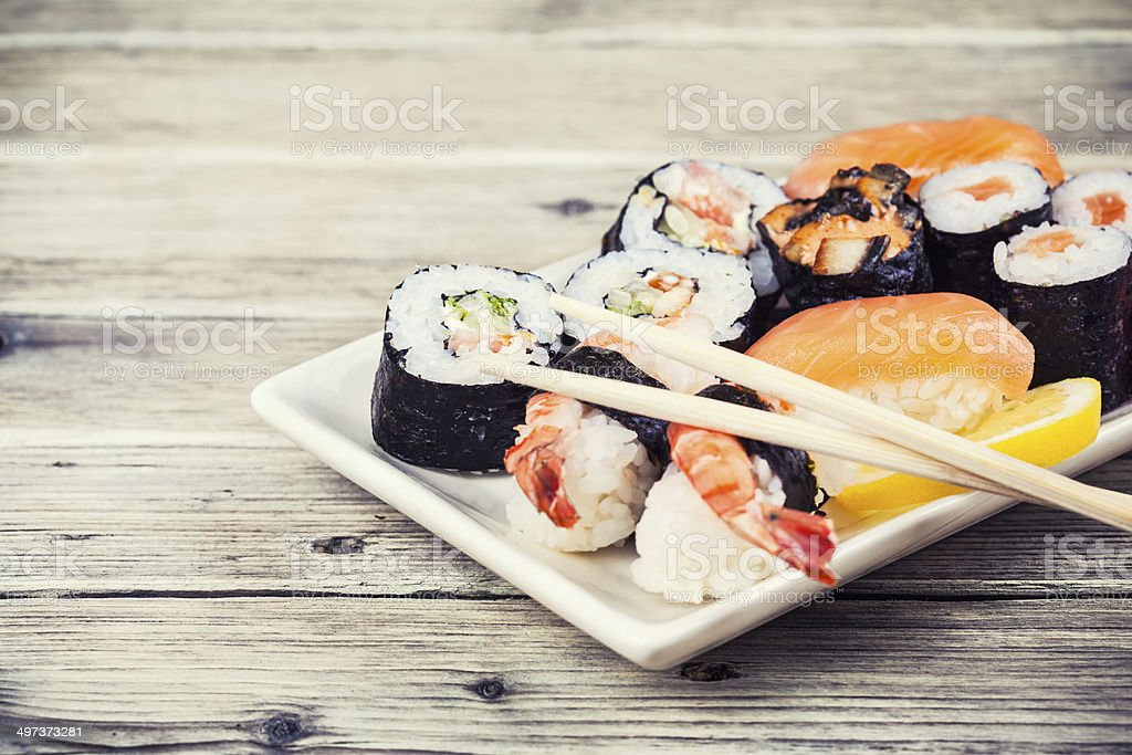 Maki Sushi set stock photo